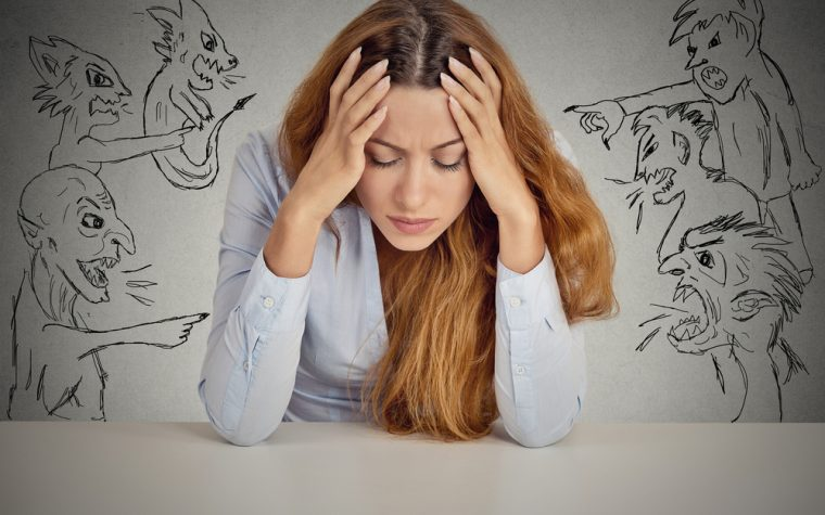 Negative thoughts increase stress in fibromyalgia patients.
